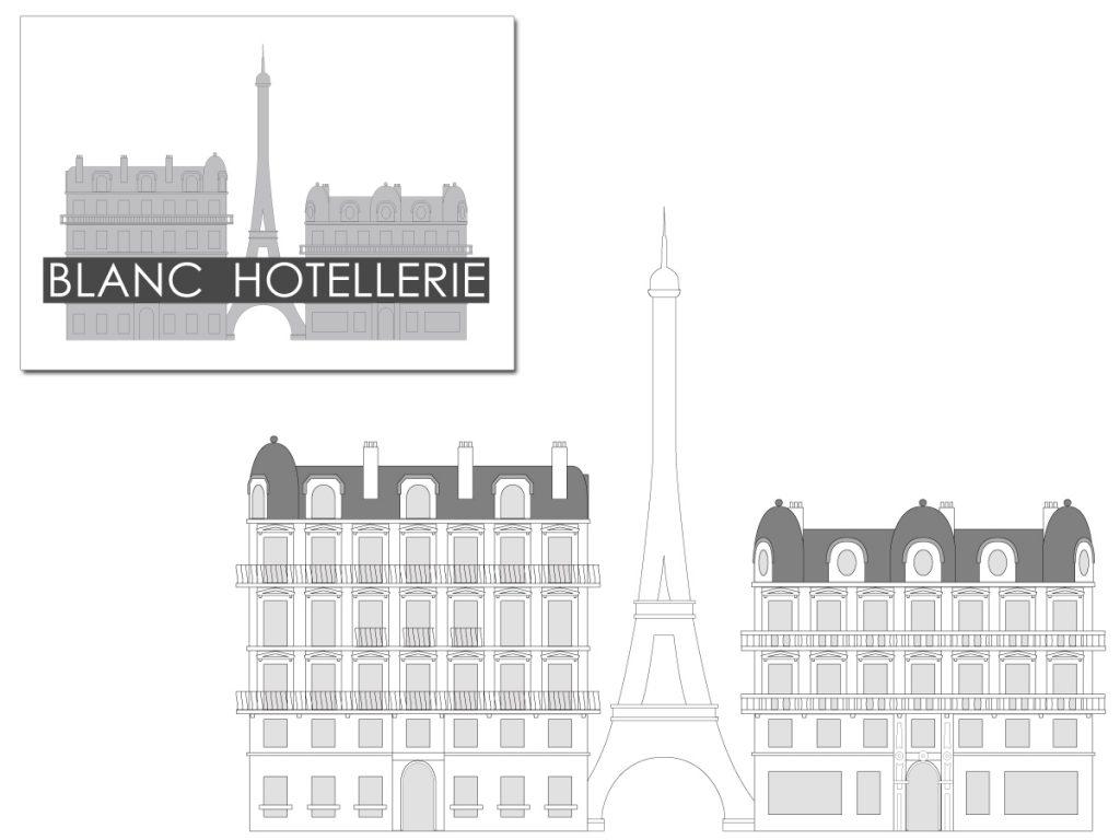 Etude de logo (BLANC HOTELLERIE)