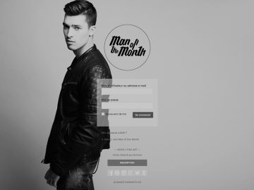 Site internet (Manofthemonth.fr)