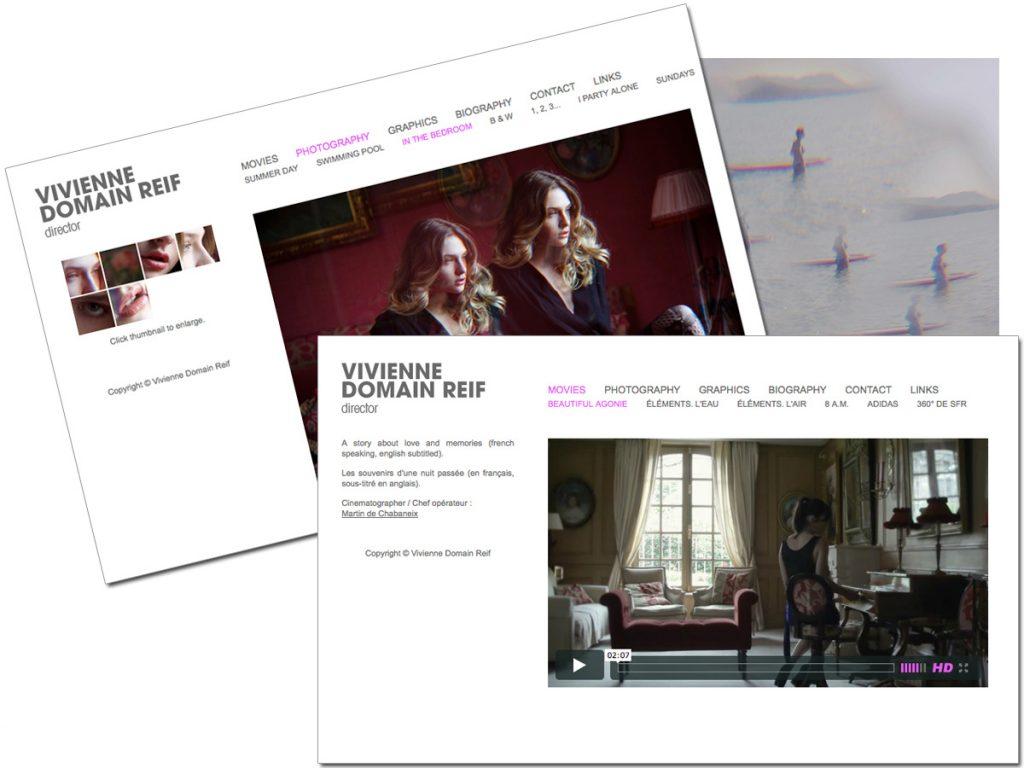 Site internet (VIVIENNE DOMAIN REIF)